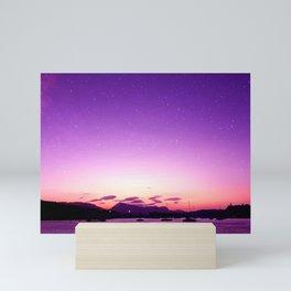 Sunset in Poros Mini Art Print