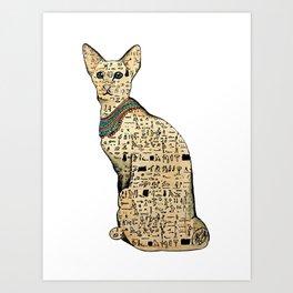 Egyptian cat. Art Print