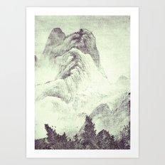 Looking back at Denjiro Art Print