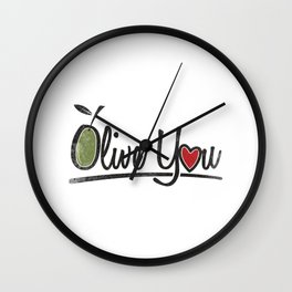 Olive You Gift Wall Clock