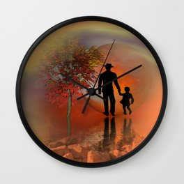 sky is on fire and I must go -2- Wall Clock