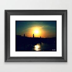 Sunset in Bermuda Framed Art Print