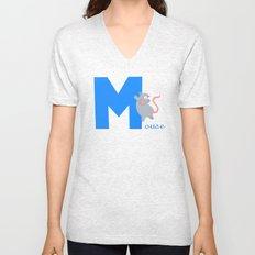m for mouse Unisex V-Neck