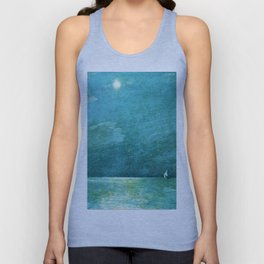 Classical Masterpiece 'Moonlight on the Sound' by Frederick Childe Hassam Unisex Tank Top