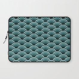 Japanese Waves Seigaiha Teal Laptop Sleeve