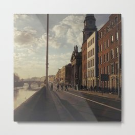 Dublin Ireland City Urban Sepia Photo Print Metal Print