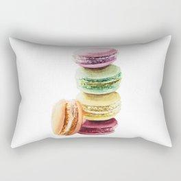 Colorful Macarons Wataercolor Painting Rectangular Pillow