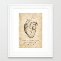 fitzgerald Framed Art Prints featuring Heart Quote By Zelda Fitzgerald by Taylan Soyturk