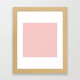 Millennial Pink Solid Matte Framed Art Print