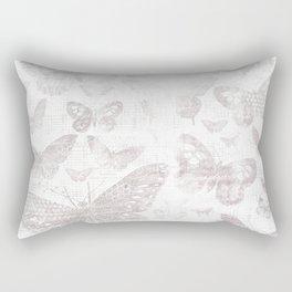 Silver Butterflies,shabby chic, pattern Rectangular Pillow
