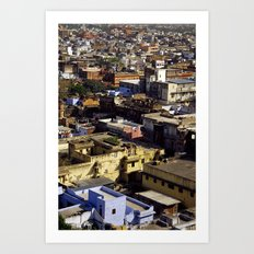 Jaipur Cityscape Art Print