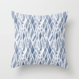 Sand Flow Pattern - DarkBlue Throw Pillow