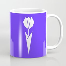 Origami Flower (white + blue) Coffee Mug