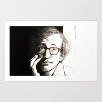 woody allen Art Prints featuring Woody Allen by Frances Roughton