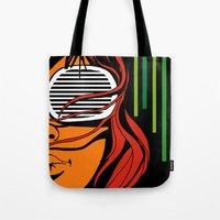 lips Tote Bags featuring Lips by David Navascues