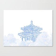 Zen temple in the cloud Canvas Print