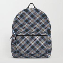 Tartan blue brown , black Backpack