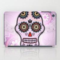 sugar skull iPad Cases featuring Sugar skull by nicky2342