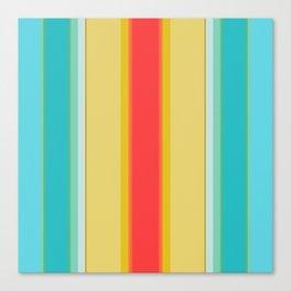 sandcastle deckchair stripe Canvas Print