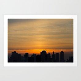 skyline brushstrokes Art Print