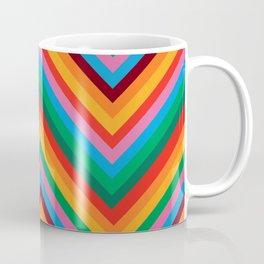 Colorful Rainbow Zig Zag Chevron                                                  Coffee Mug