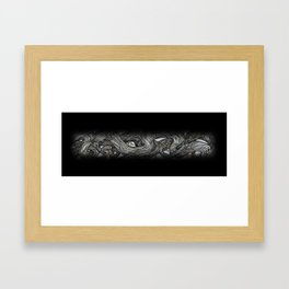 Faded Branches Framed Art Print