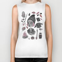 stickers Biker Tanks featuring Magical ϟ Autumn by lOll3