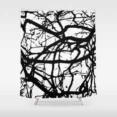 black branches Shower Curtain