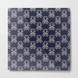Baroque style floral retro pattern Metal Print