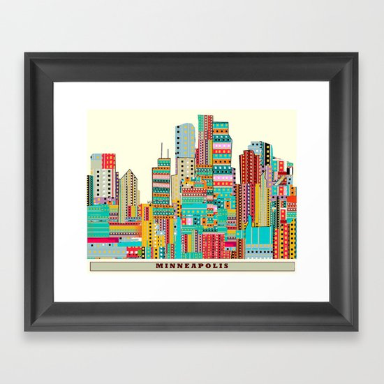 Minneapolis city  Framed Art Print