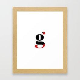 Reg Framed Art Print