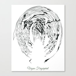 Vegan Fingerprint Canvas Print