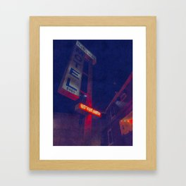 Hollywood Motel - No Vacancy Framed Art Print