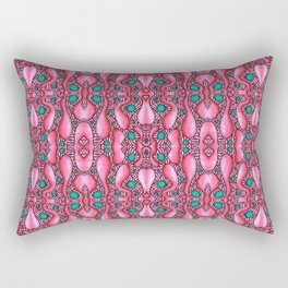 Psychedelic Mind Bending Pink and Blue Pattern Rectangular Pillow