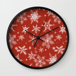 Snow Flakes 06 Wall Clock