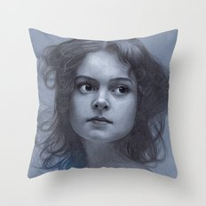 Behind greyness - pencil drawing on paperboard Throw Pillow