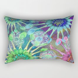 Abstract Passion Flower Burst Rectangular Pillow
