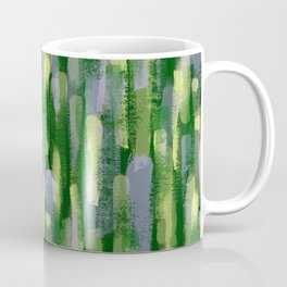 Brushstrokes in Green Coffee Mug