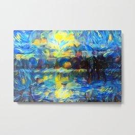 van Gogh Tribute: Sunrise Metal Print