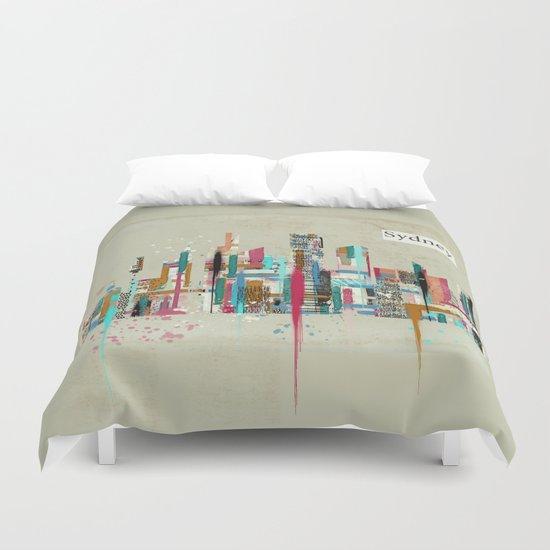 Sydney skyline  Duvet Cover