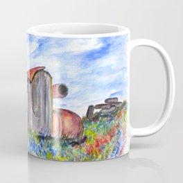 Wild Flower Junk Car Coffee Mug
