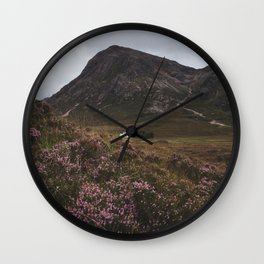 The moorland house - Landscape and Nature Photography Wall Clock