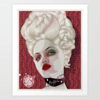marie antoinette Art Prints featuring Marie Antoinette by MORPHEUS