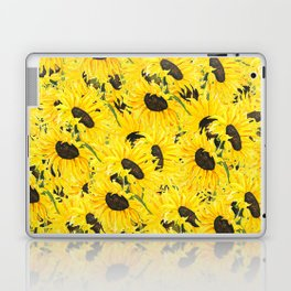 sunflower pattern 2018 1 Laptop & iPad Skin