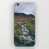 cassia beck iPhone & iPod Skins featuring Cinnerdale Beck with Whiteless Pike beyond. Lake District, UK. by liamgrantfoto