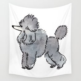 London - Dog Watercolour Wall Tapestry