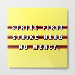 Cobra Kai (Rule of Threes) Metal Print