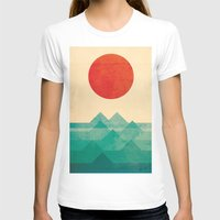 vintage floral T-shirts featuring The ocean, the sea, the wave by Picomodi