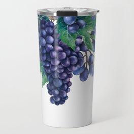 Watrercolor grapes Travel Mug