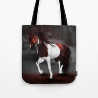 runner Tote Bags featuring Night Runner by Moonlake Designs